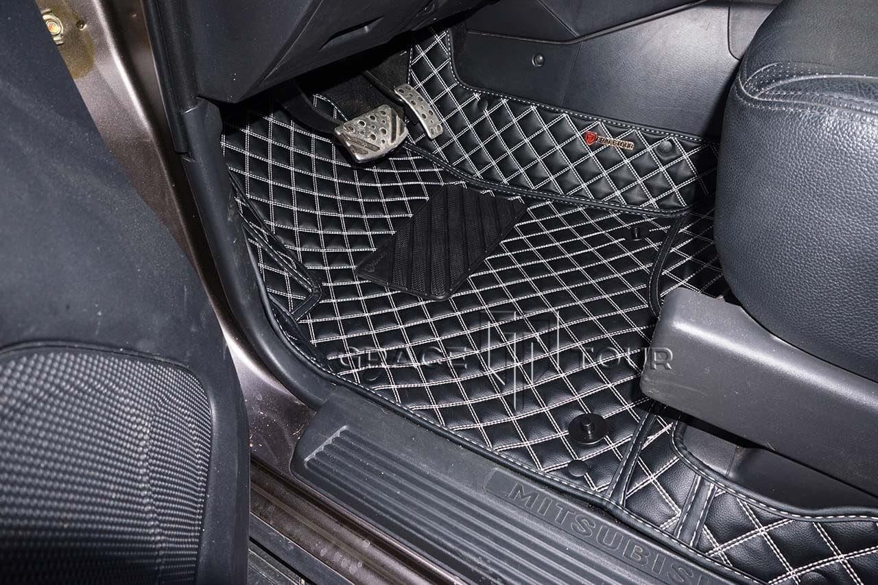 Водительский коврик из экокожи для Mitsubishi Pajero