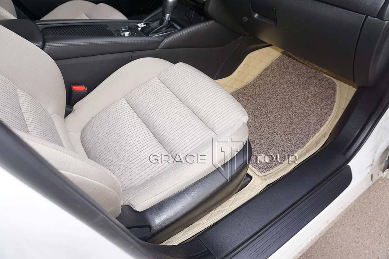 Пассажирские 3D коврики из экокожи для Mazda 6