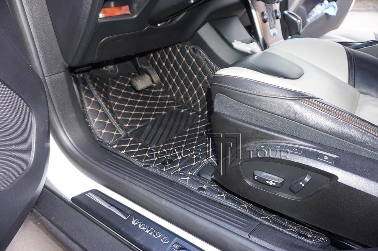 Водительский 3D коврик из экокожи для Volvo V40 Cross Country