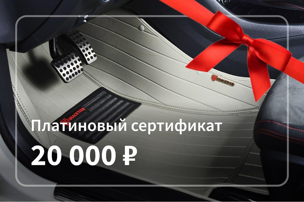 Платиновый сертификат на покупку автоковриков
