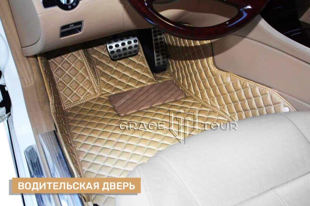 Коврик из экокожи водительский для Mercedes-Benz CL
