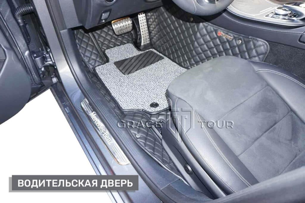 Коврики из экокожи на Mercedes-Benz E-class, водительские