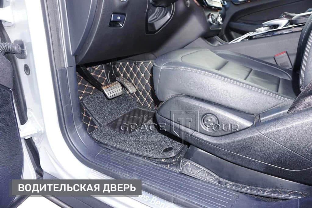 Водительский 3D-Коврик из экокожи для Mercedes-Benz GL/GLS