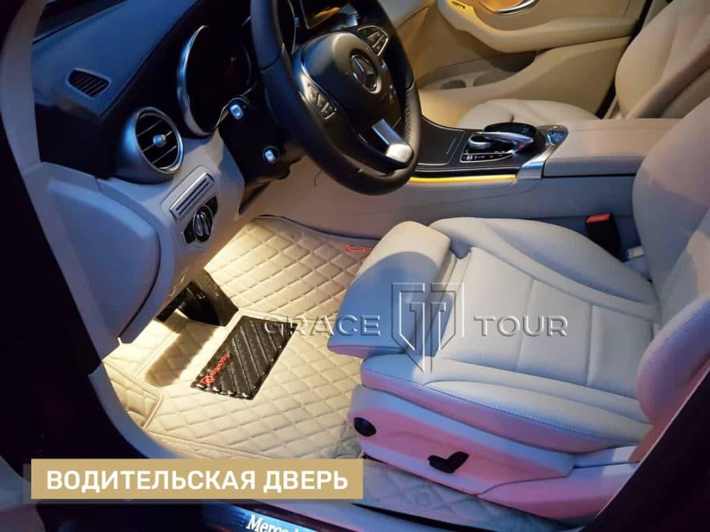 3D-коврики из экокожи для Mercedes-Benz GLC, водительские