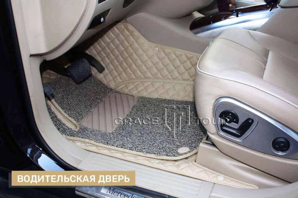 3D-коврики из экокожи для Mercedes-Benz R class на заказ