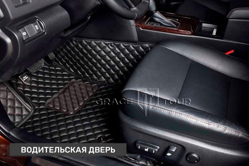 3D коврики из экокожи для Toyota Camry (водительский)