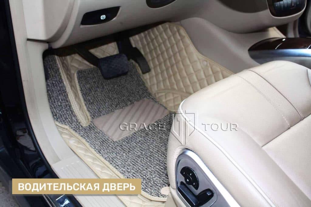 Коврик из экокожи на Mercedes-Benz R class водительский