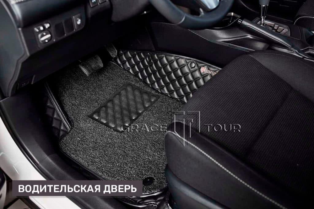 Коврики из экокожи на Toyota RAV 4 (водительский с ворсовой вставкой)