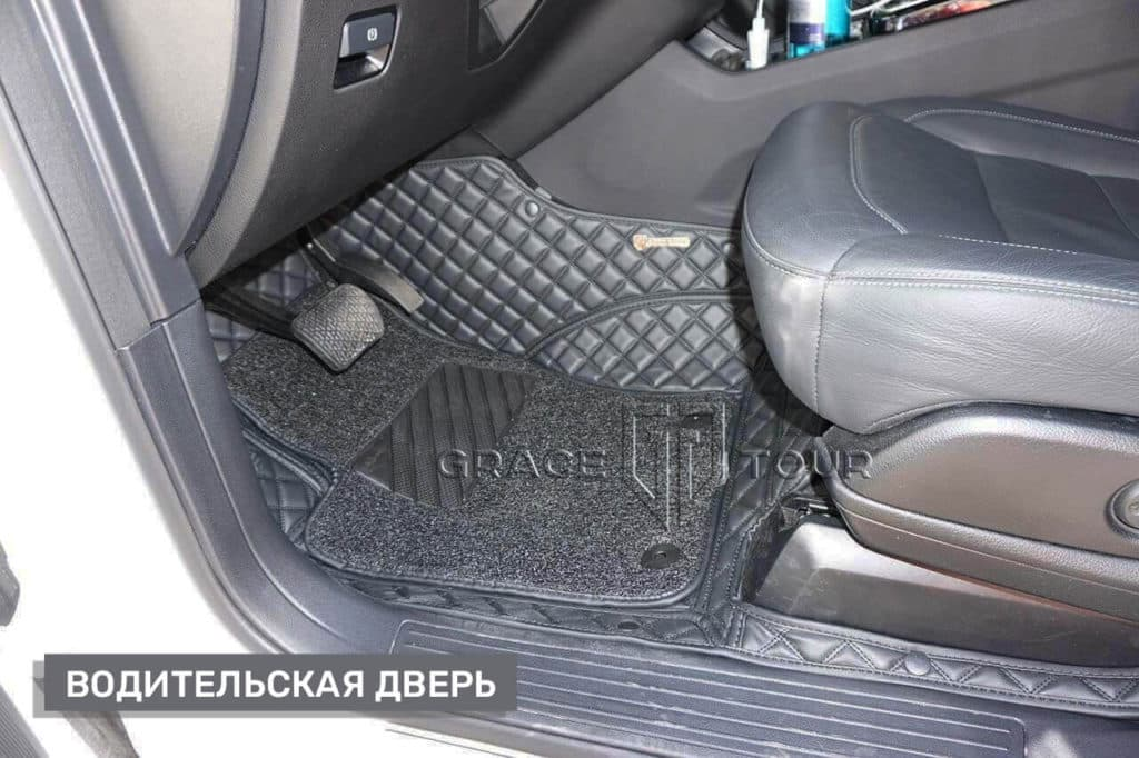 Водительский коврик из экокожи на Mercedes-Benz ML/GLE