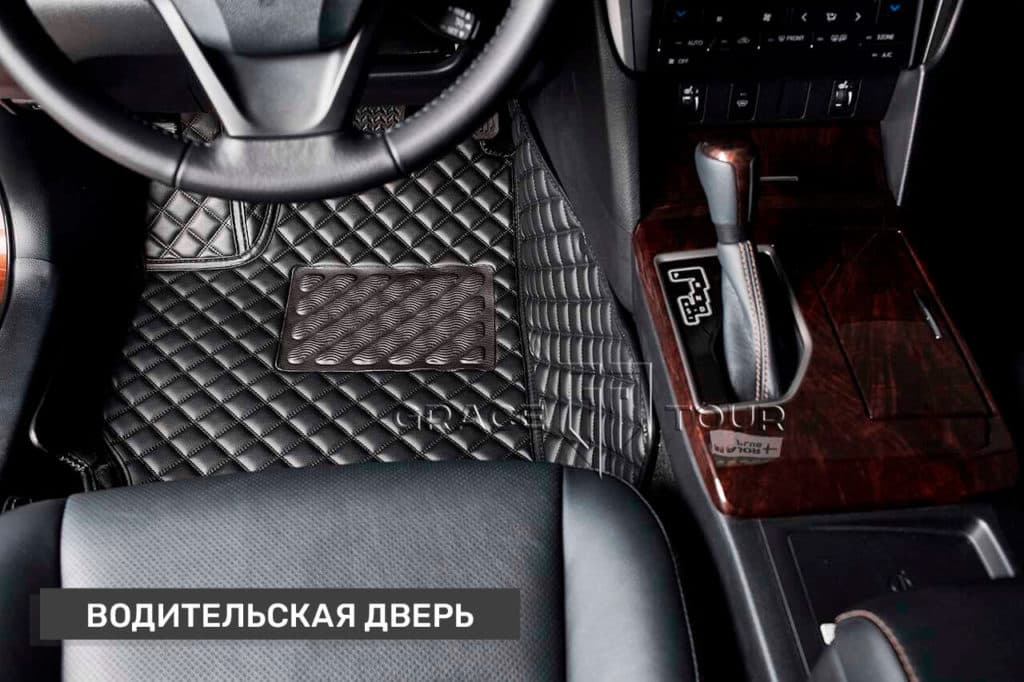 3D коврики из экокожи Люкс для Toyota Camry
