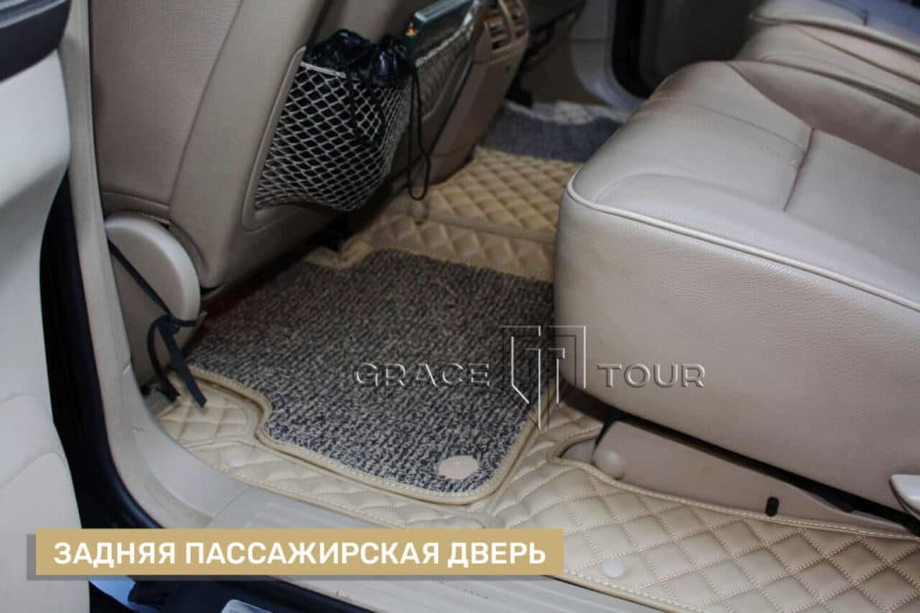 Коврики из экокожи 3D Люкс на Mercedes-Benz R class
