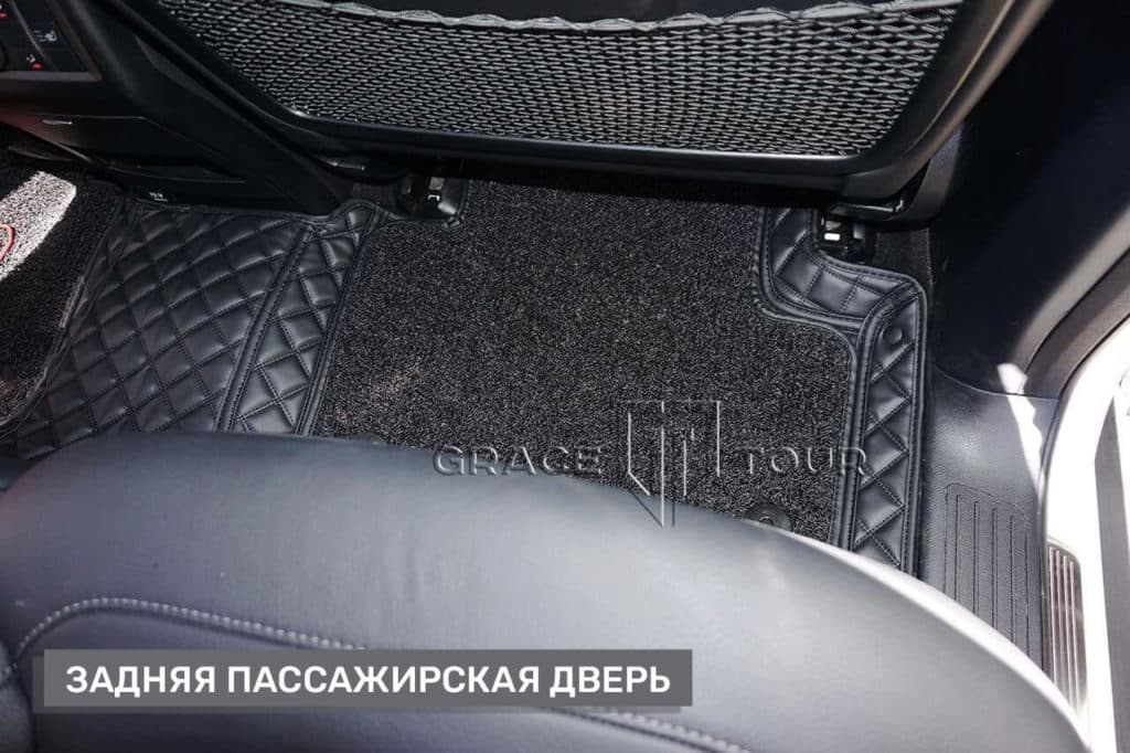 Коврики 3D из экокожи на Mercedes-Benz ML/GLE пассажирские