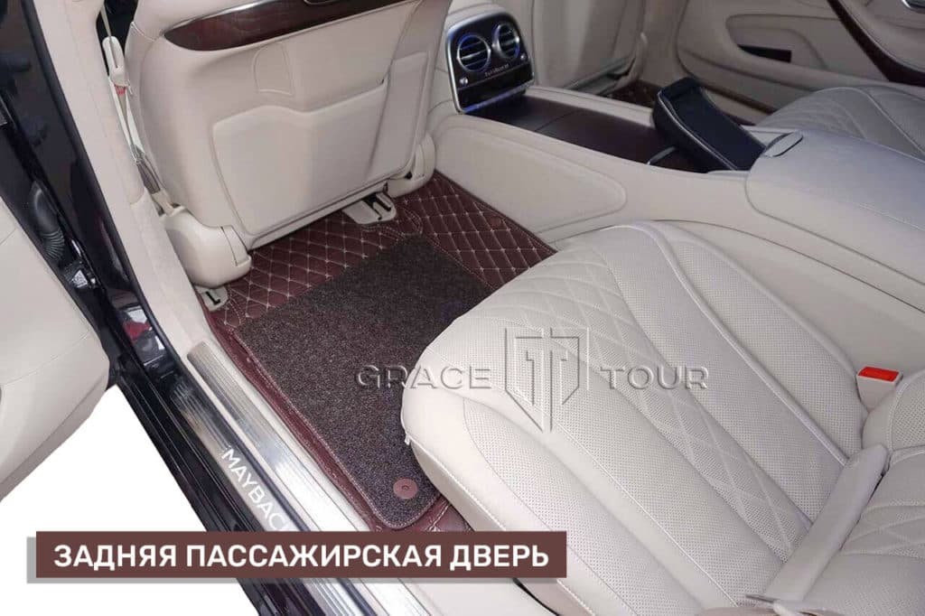 Коврики 3D для салона Mercedes-Benz S class
