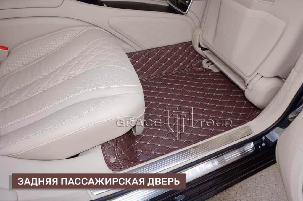 Коврики для Mercedes-Benz S class из экокожи класса Люкс с бортиками