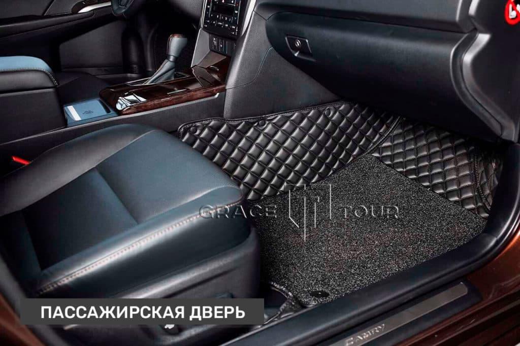 Пассажирские коврики из экокожи для Toyota Camry