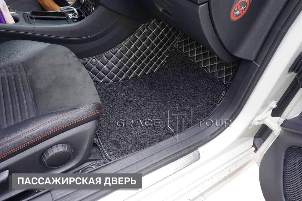 Коврики из экокожи на Mercedes-Benz CLA, материал Премиум