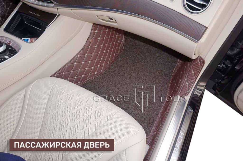 Коврики из экокожи для Mercedes-Benz S class с ворсом