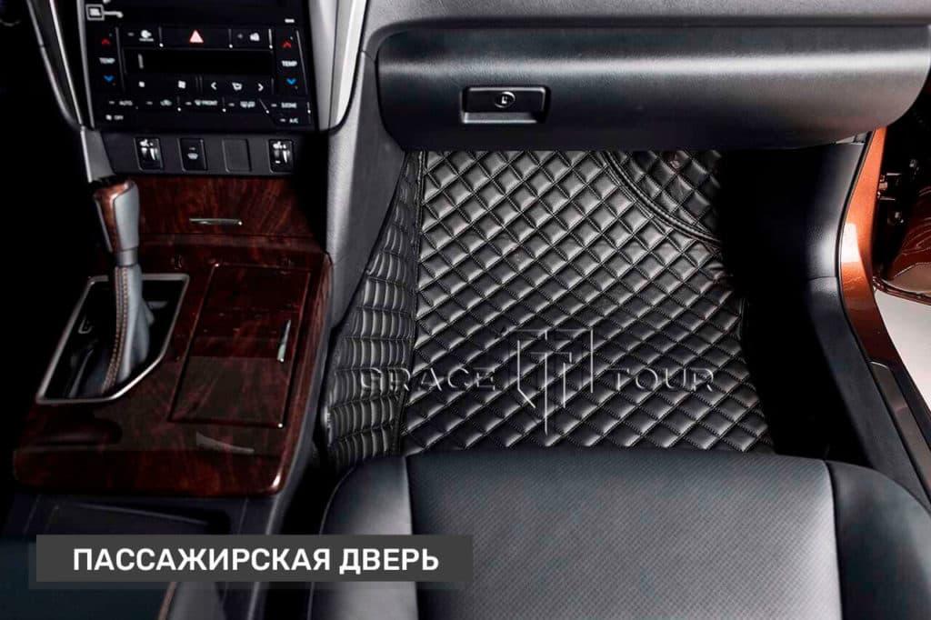Коврик переднего пассажира из экокожи для Toyota Camry