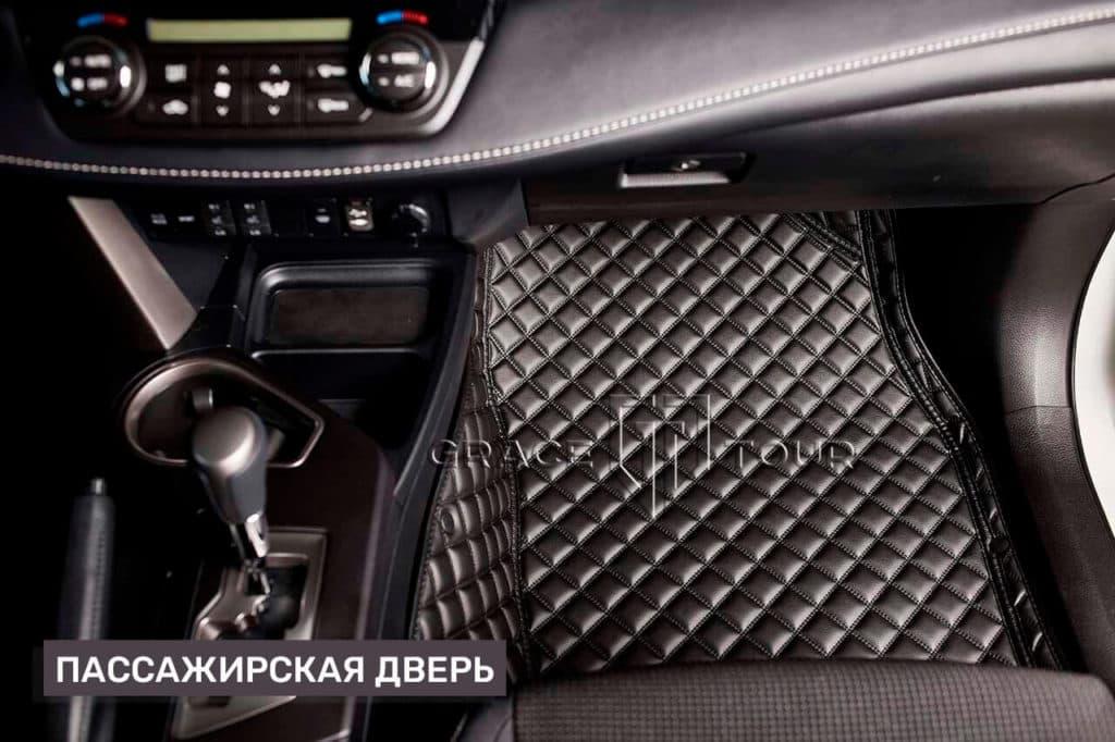 Коврики 3D из экокожи для Toyota RAV 4 всесезонные