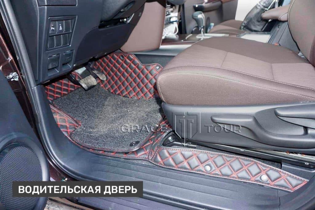 Водительский коврик из экокожи для Toyota Fortuner
