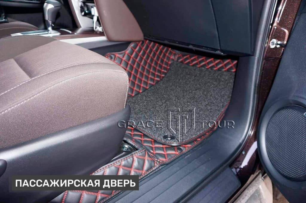 Автомобильные коврики из экокожи, Toyota Fortuner