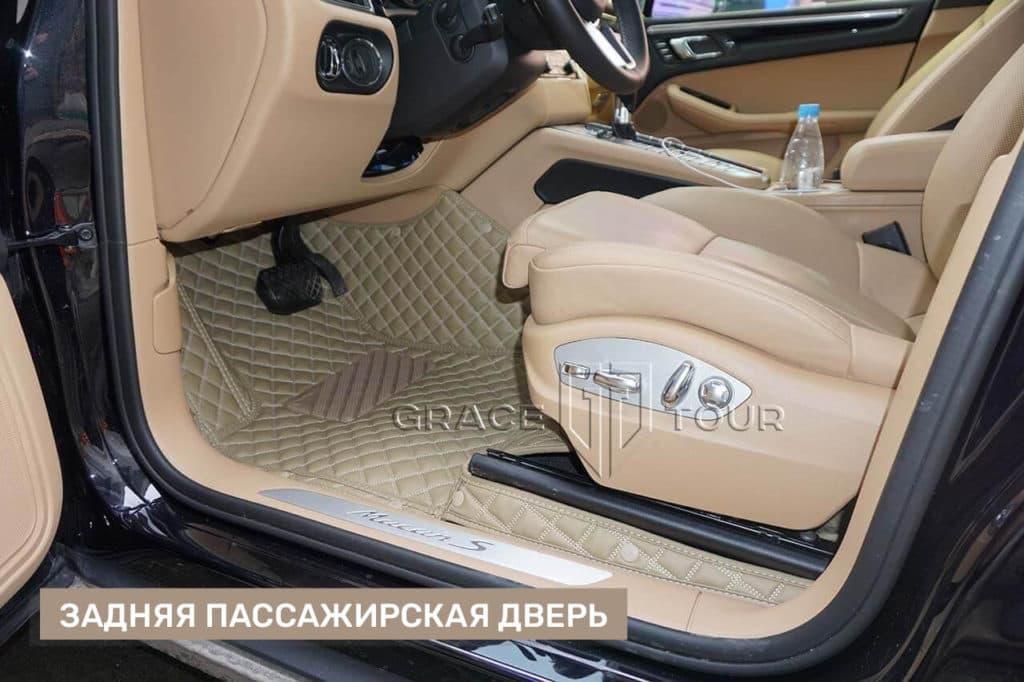 Пассажирские коврики из экокожи для Porsche Macan