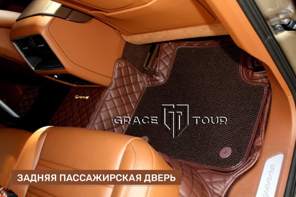 3D коврики из экокожи Люкс для Porsche Cayenne