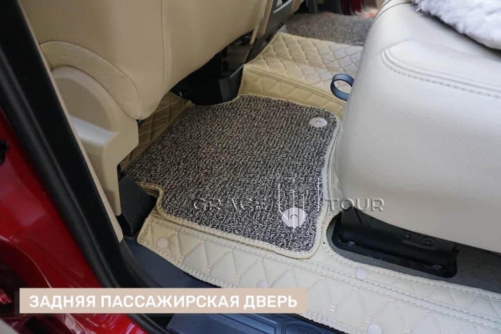 Пассажирские коврики 3D из экокожи для Land Rover Discovery 4