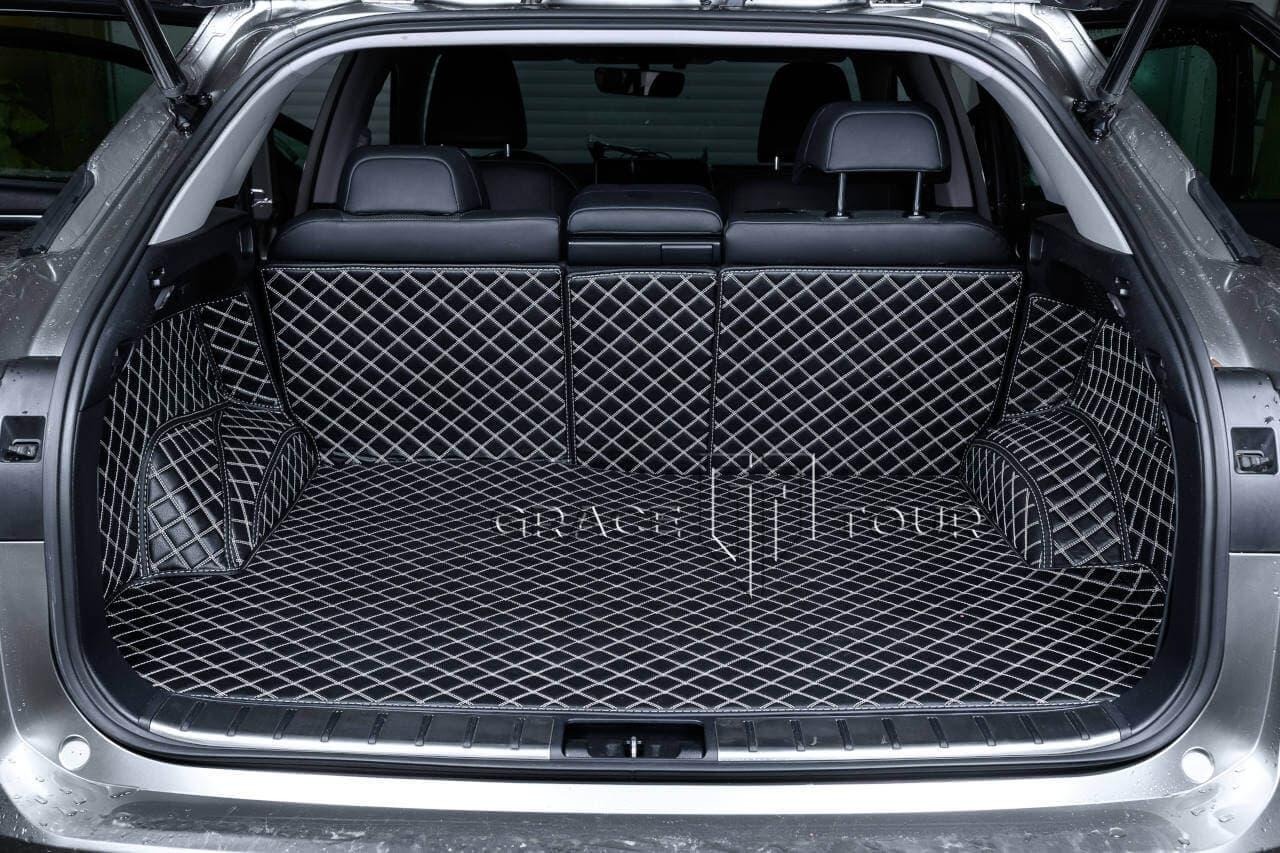 """3D коврик в багажник автомобиля из экокожи, материал """"Люкс"""""""