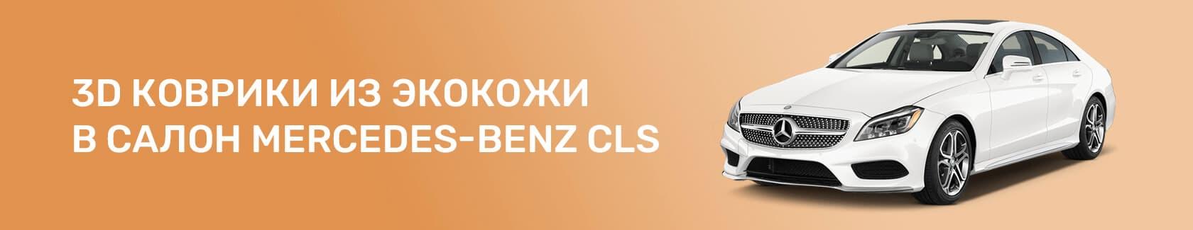 3D-коврики из экокожи в салон Mercedes Benz CLS