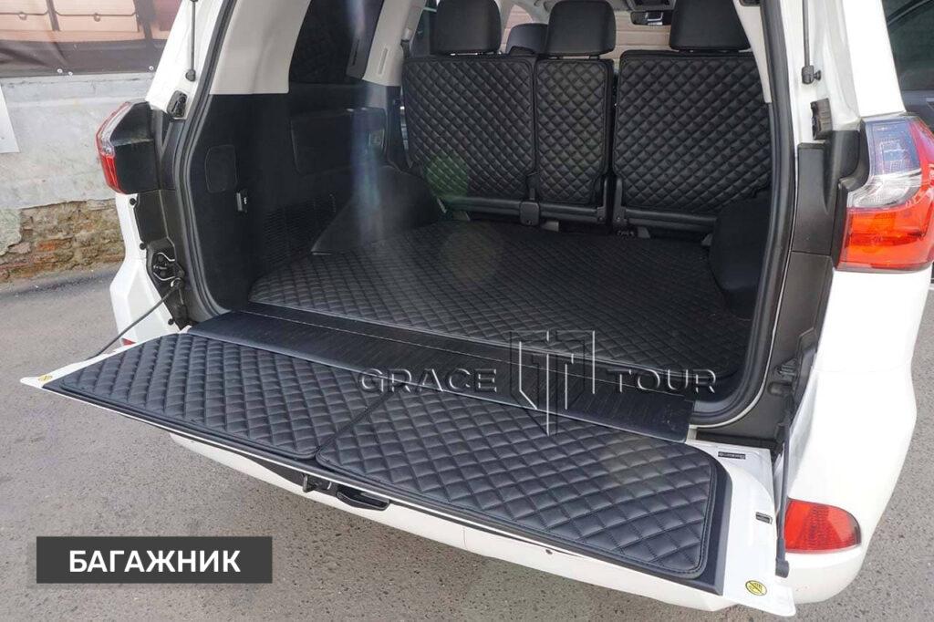 Коврики из экокожи 3D в багажник Lexus LX