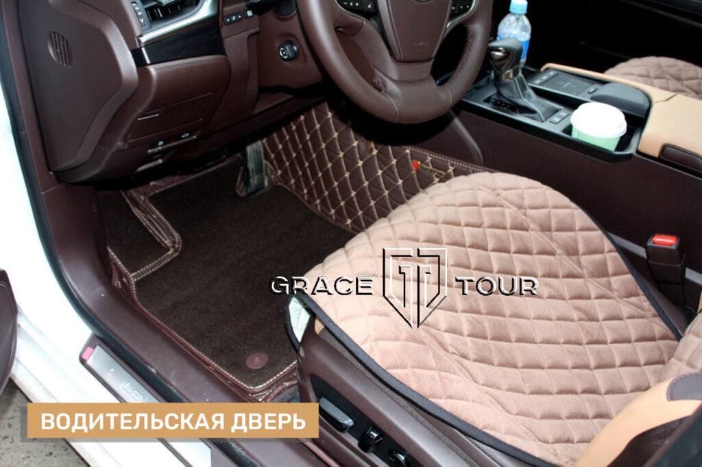 3d-коврики из экокожи для Lexus ES
