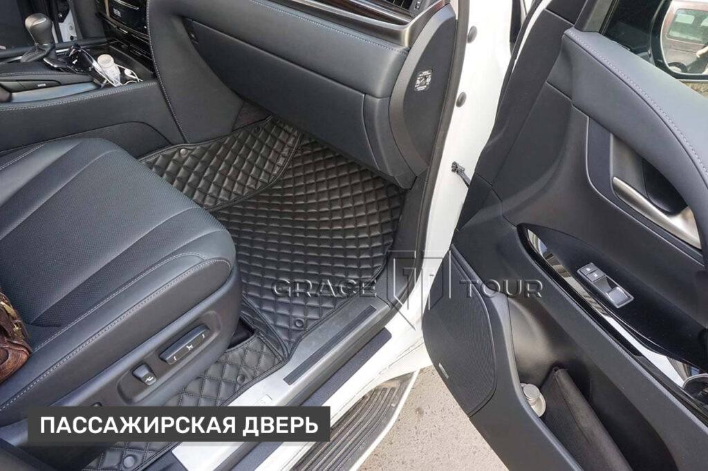 3D-коврики пассажирские из экокожи для Lexus LX