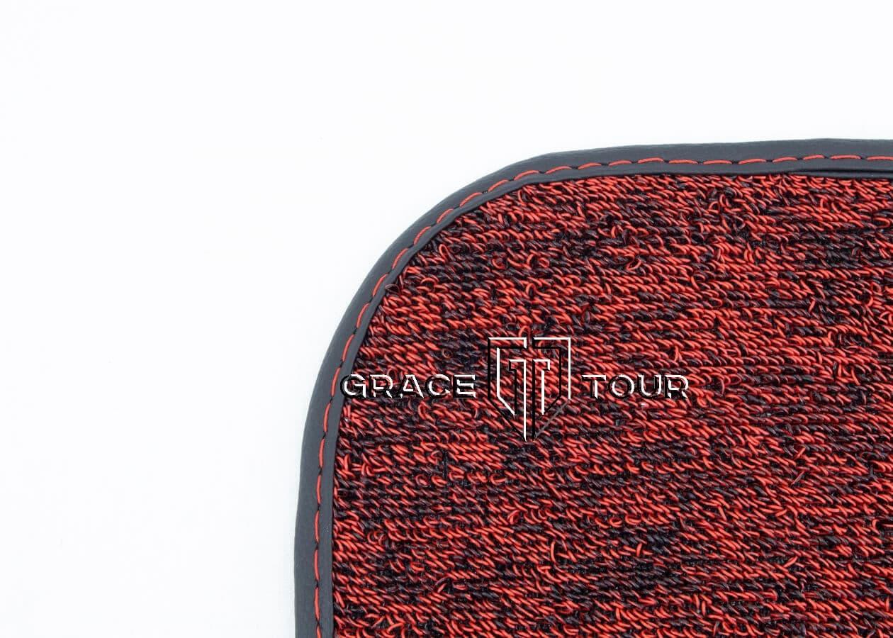 Дополнительный ворс ПВХ мини чёрный с красным для автомобильных ковриков