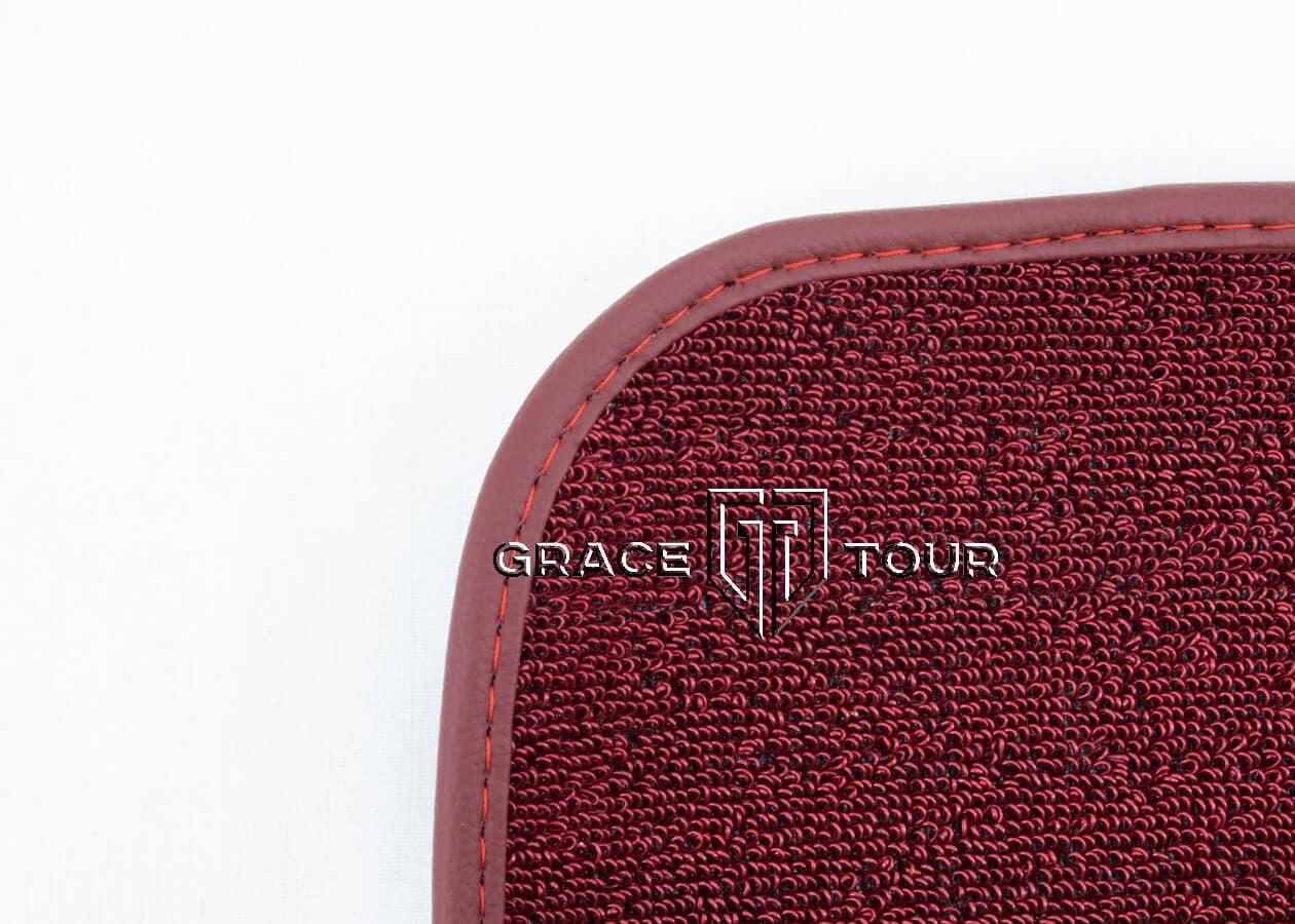 Дополнительный ворс ПВХ мини красный для автомобильных ковриков