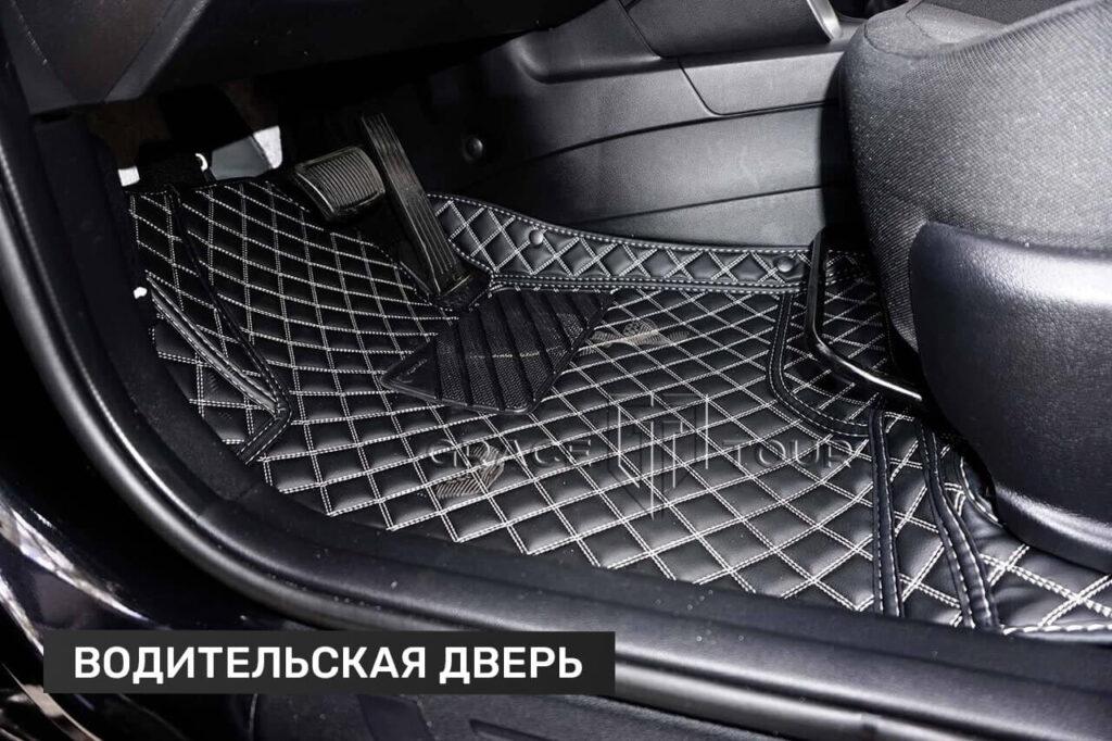 3D коврики из экокожи для Kia Cee'd. Водительский коврик имеет резиновый подпятник