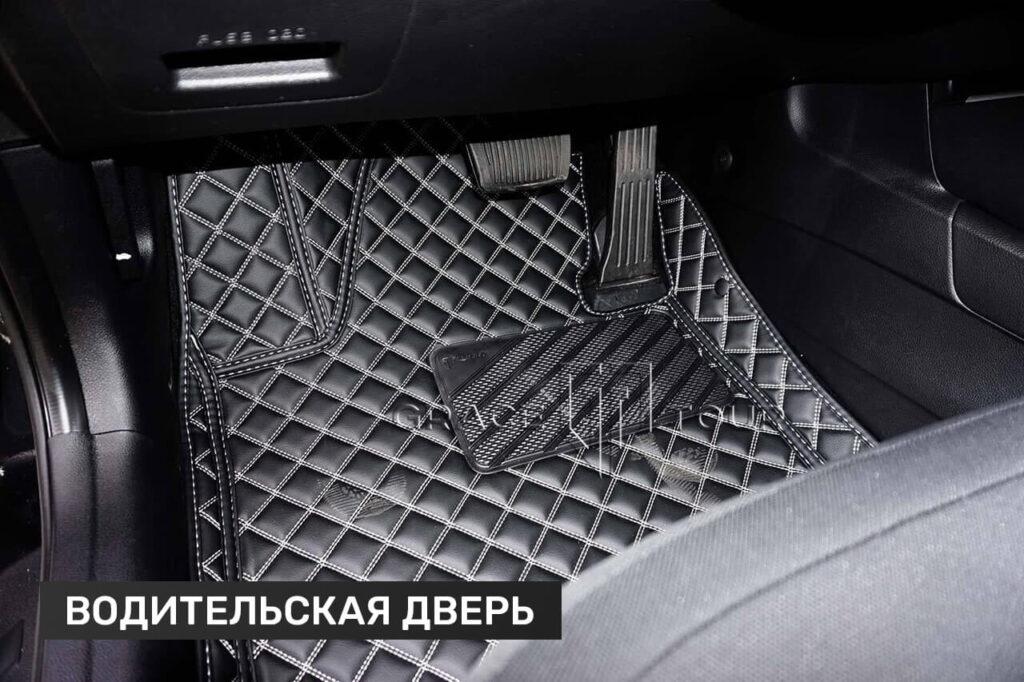 Водительский коврик из экокожи для Kia Cee'd