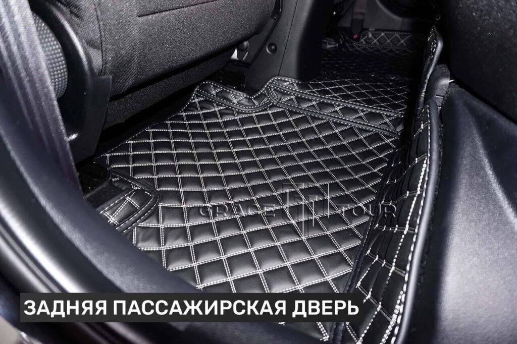 "3D коврики из экокожи для Kia Cee'd черного цвета, материал ""Люкс"""