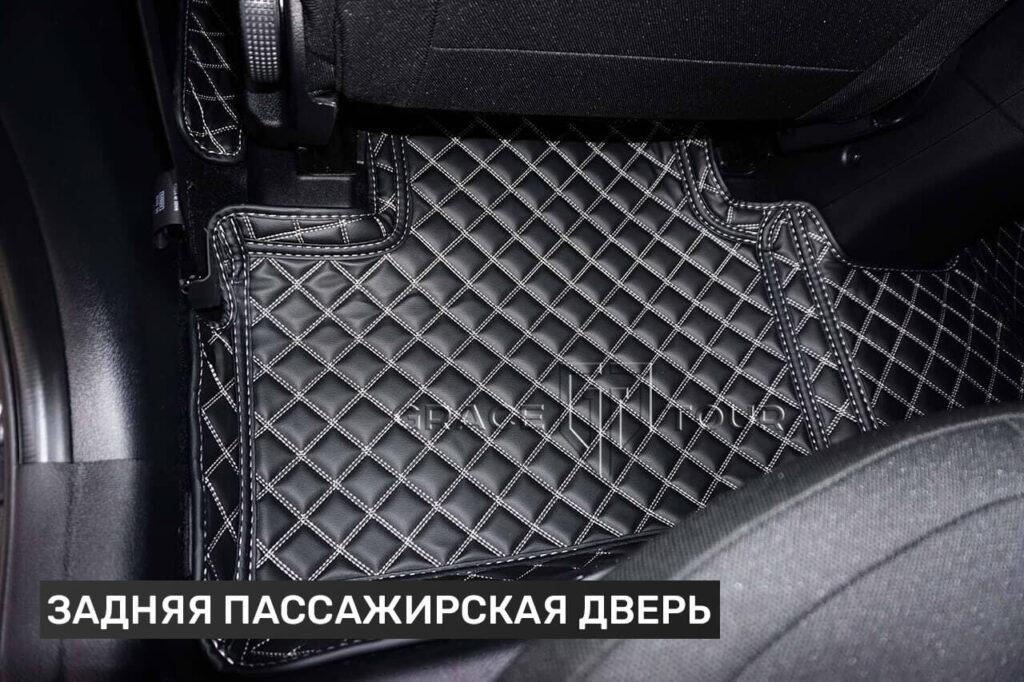 3D коврики из экокожи для Kia Cee'd - задник пассажирские