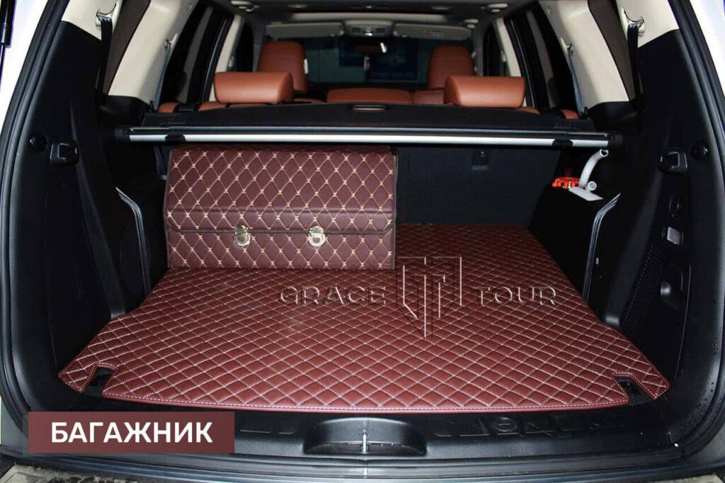 2D коврики из экокожи в багажник Kia Mohave