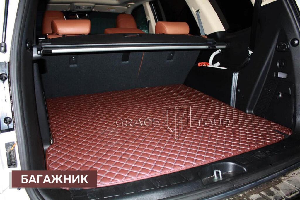 3D коврики из экокожи для багажника Kia Mohave