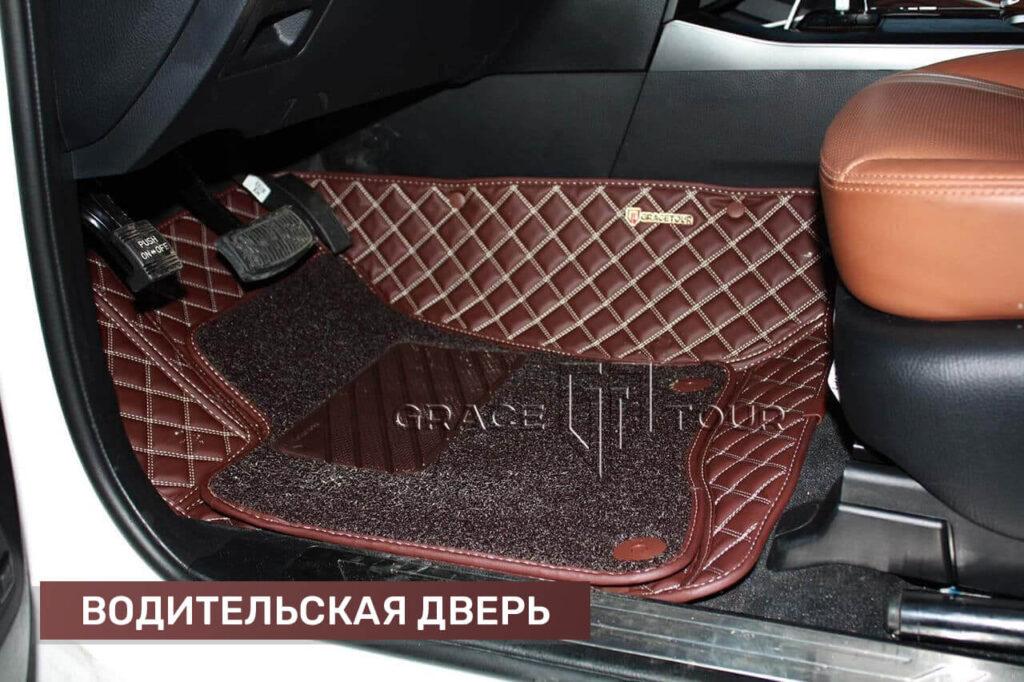 Водительский коврик из экокожи для Kia Mohave