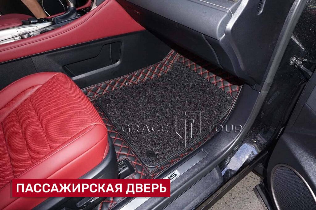 3d-коврики из экокожи для салона Lexus RX с ворсом