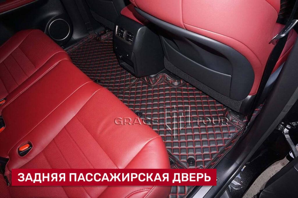 3d-коврики из экокожи для салона Lexus RX - ручная работа, сшиты по лекалам