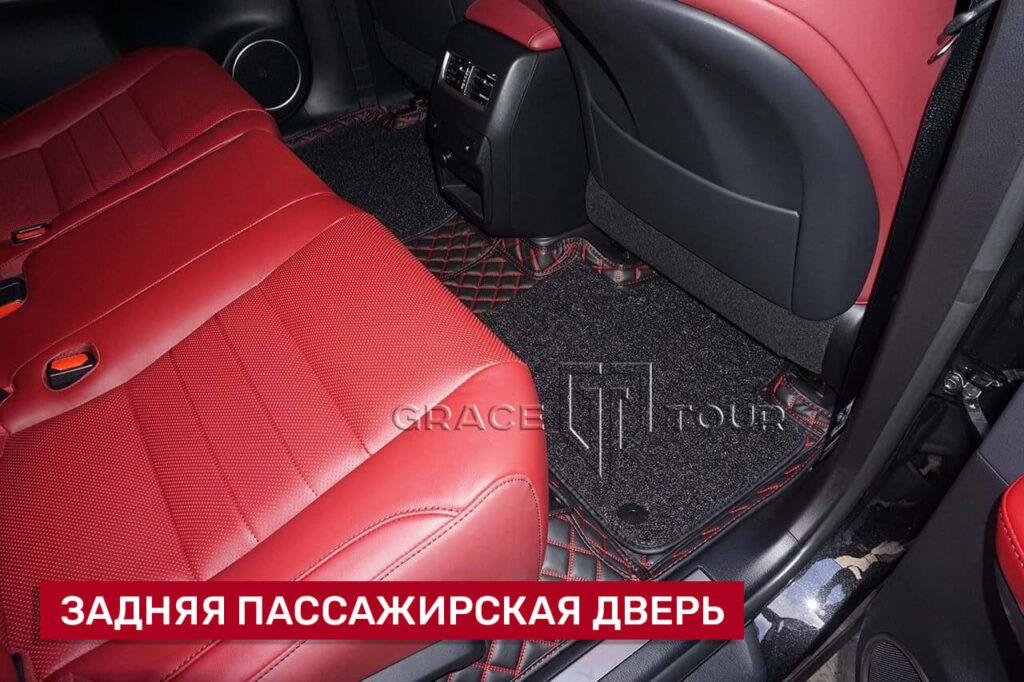 3d-коврики из экокожи для салона Lexus RX