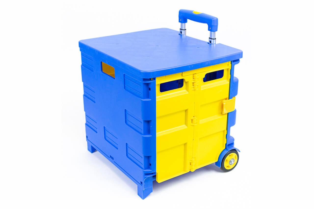 Органайзер на колёсах жёлто-голубой