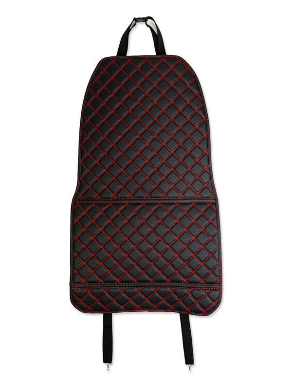 Накидки люкс чёрные с красной строчкой