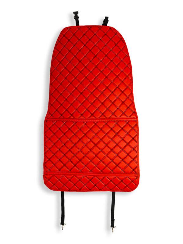 Накидки люкс красные с чёрной строчкой