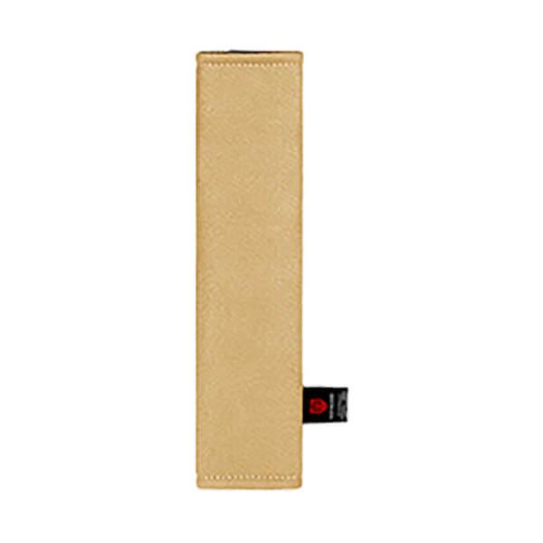 Бежевая накладка на ремень вертикальная