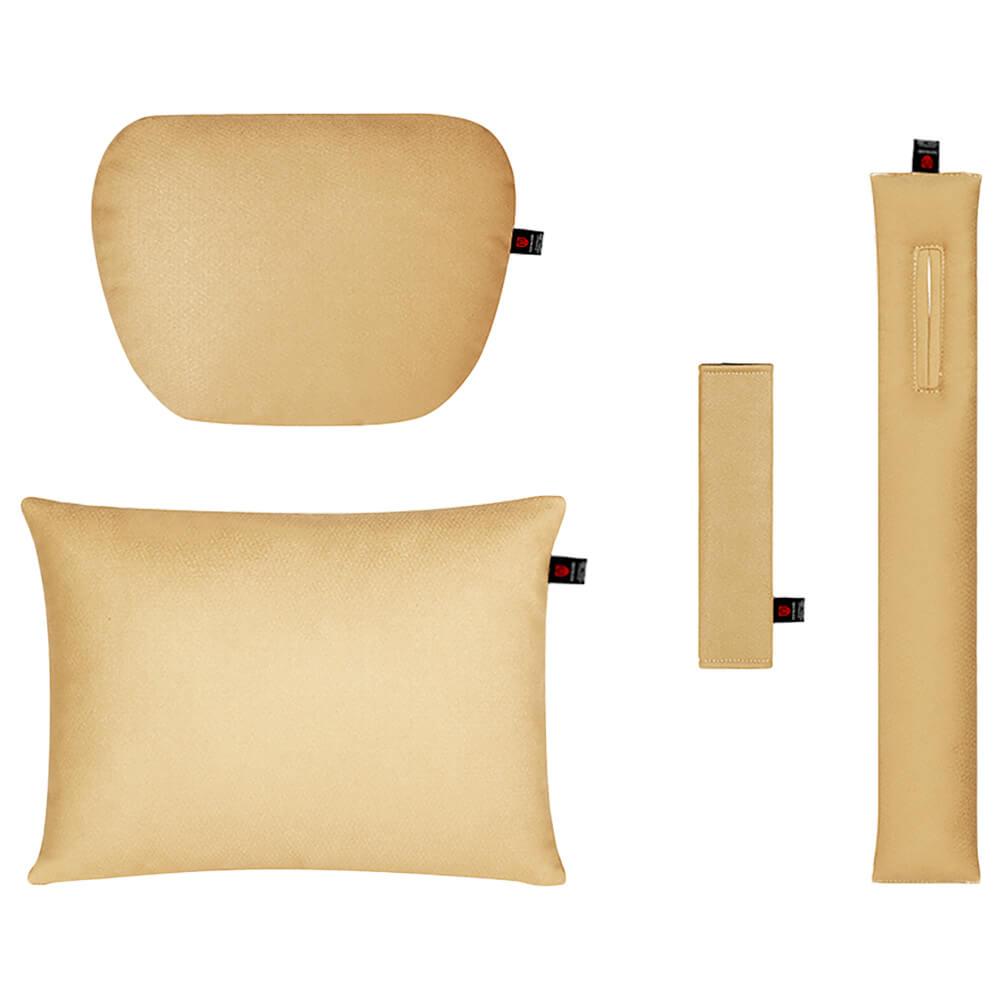 Бежевый комплект подушек в салон автомобиля 4 штуки